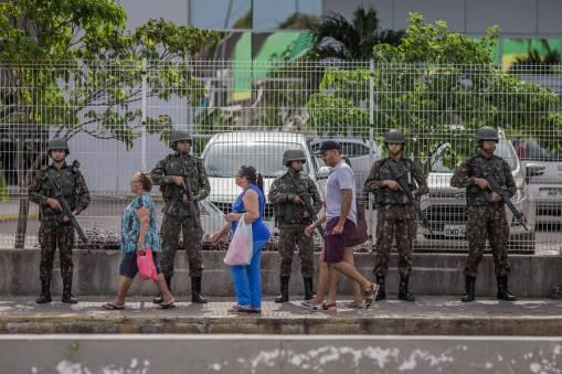 Forças Armadas patrulham as ruas no Rio Grande do Norte
