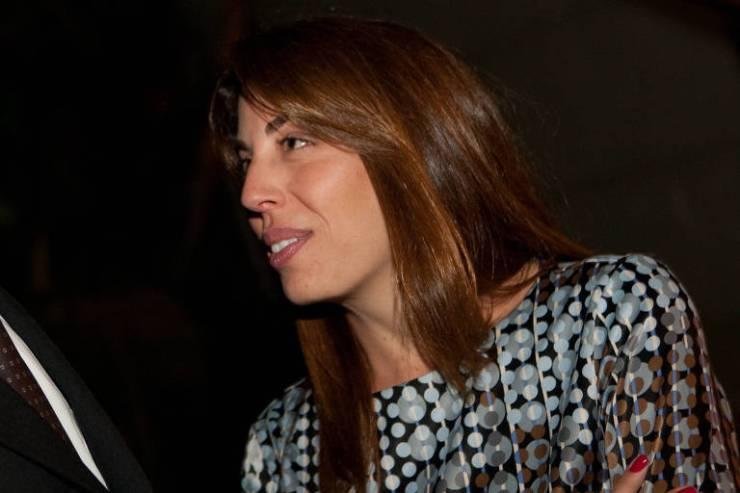 Retrato de perfil de Maristela Temer em 2010, durante jantar oferecido a seu pai, Michel Temer