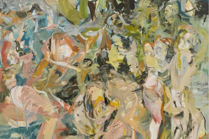 Uma das obras de Cecily Brown em exposição no Instituto Tomie Ohtake