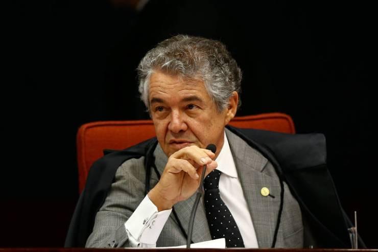 Relator Marco Aurélio Mello, que votou por aceitar a denúncia contra Aécio
