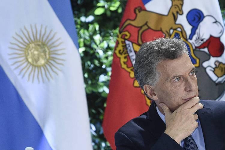 O presidente argentino Mauricio Macri durante evento na Casa Rosada, em Buenos Aires