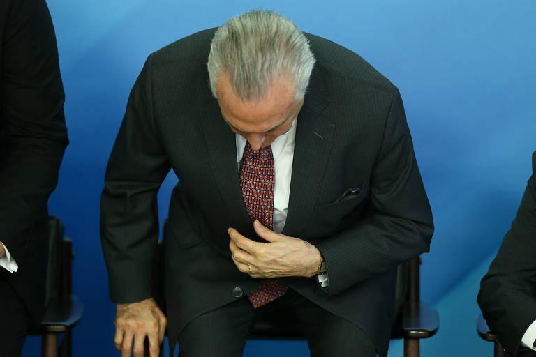 O presidente Michel Temer durante cerimônia de anúncio da ampliação dos saques do Fundo PIS/Pasep, no Palácio do Planalto