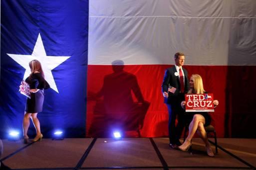 Apoiadores do candidato republicano ao Senado Ted Cruz