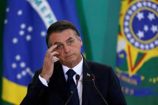 Brazil's President Jair Bolsonaro attends a ceremony at the Planalto Palace in Brasilia, Brazil January 7, 2019. REUTERS/Adriano Machado ORG XMIT: SMS219