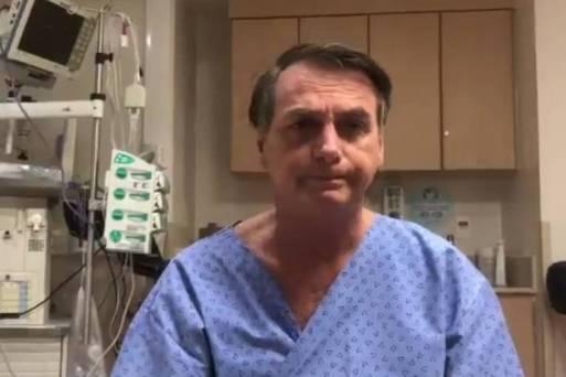 Internado para cirurgia, presidente Jair Bolsonaro grava vídeo no hospital antes do procedimento e agradece orações