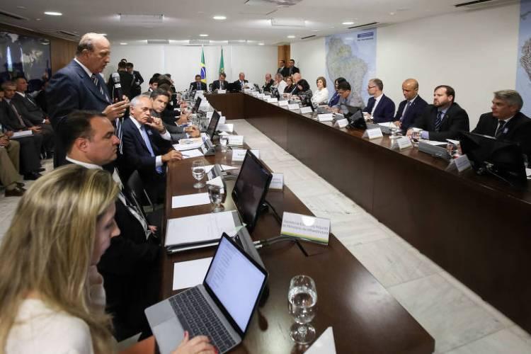 Palestra do ministro do Tribunal de Contas da União, Augusto Nardes, a Bolsonaro e ministros