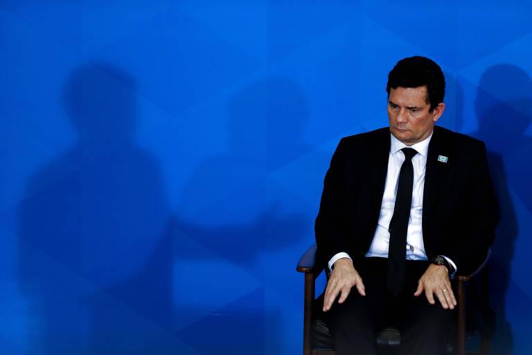 O ministro Sergio Moro durante evento sobre armas no Palácio do Planalto