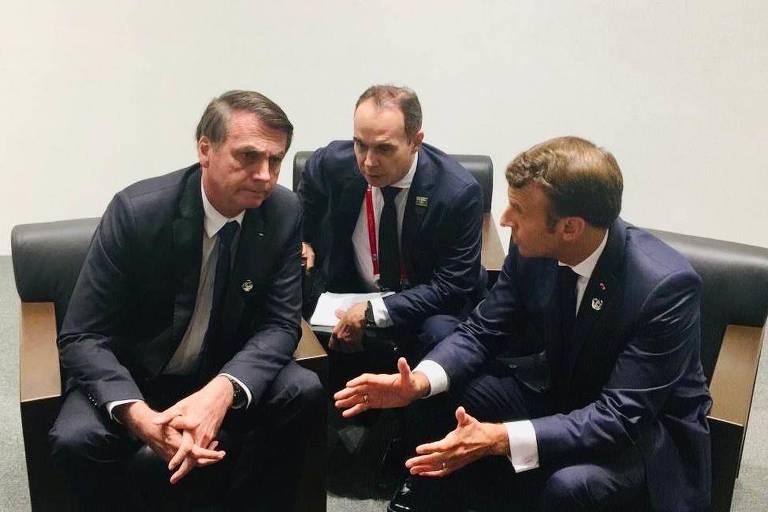 15617116995d15d453c66b6_1561711699_3x2_md Após anunciar cancelamento, Bolsonaro encontra Macron e o convida a visitar Amazônia