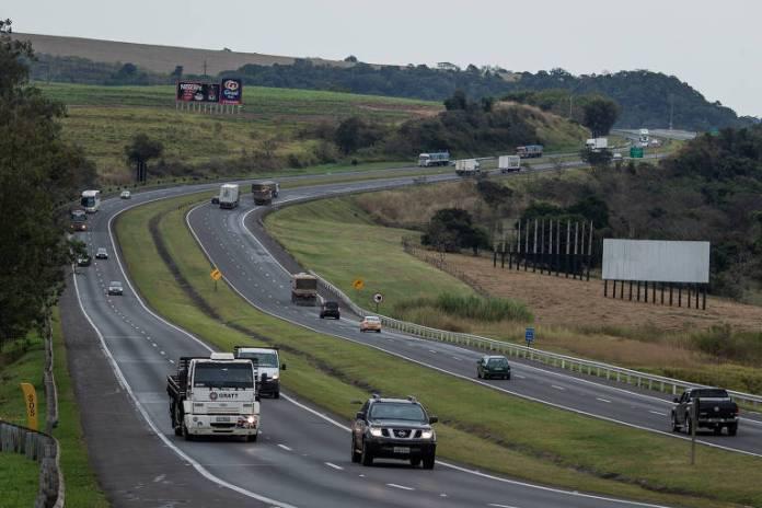 Trecho da rodovia SP-308, entre Rio Claro e Piracicaba, que faz parte da concessão Piracicaba-Panorama.