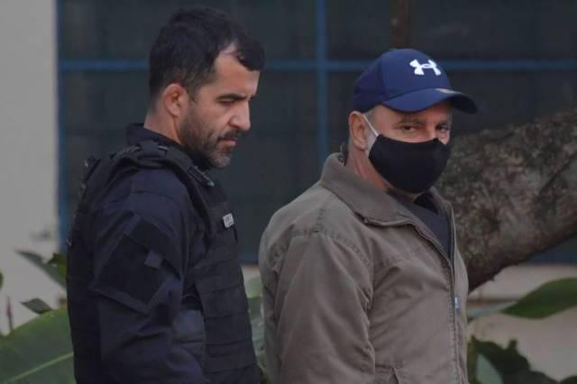 Fabricio Queiroz chega ao Instituto Médico Legal, em São Paulo, após ser preso pela Polícia Civil de São Paulo, em Atibaia