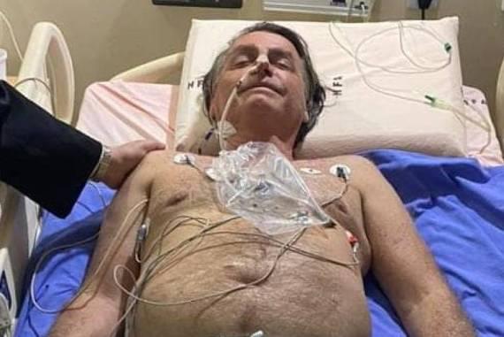 O presidente Jair Bolsonaro em imagem divulgada por ele em suas redes sociais nesta quarta-feira (14)