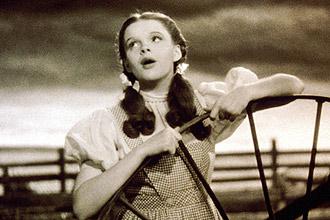 """Judy Garland em cena do filme """"O Mágico de Oz"""" (1938), que será exibido no MIS, ao som de Pink Floyd Cover"""