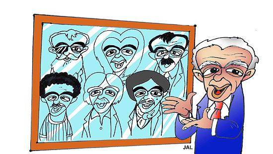 Caricaturista de Chico Anysio em feita por Jal