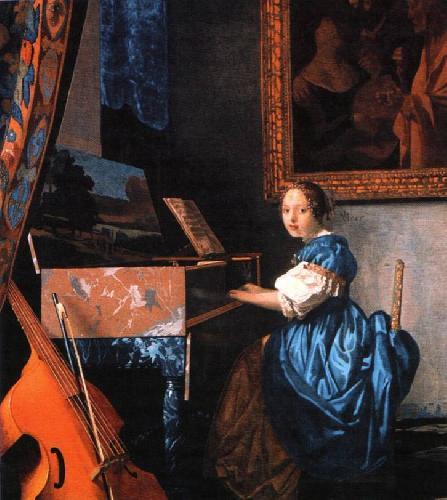 Ян Делфтский Вермер. Дама перед клавесином