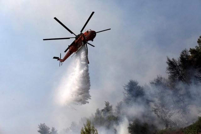 El incendio se declaró en esta isla, la sexta más grande deGreciacon unos 3.900 km², poco después de las 03.00, hora local (00.00 GMT) de hoy.