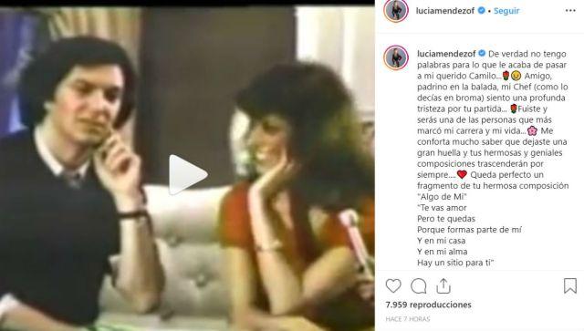 La actriz Lucía Méndez sostuvo que Camilo Sestoes fue una de las personas que más marcó su carrera y vida.