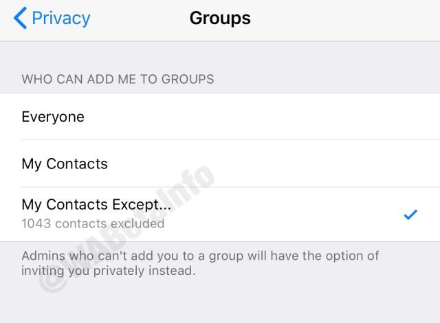 Esta es la opción en iOS