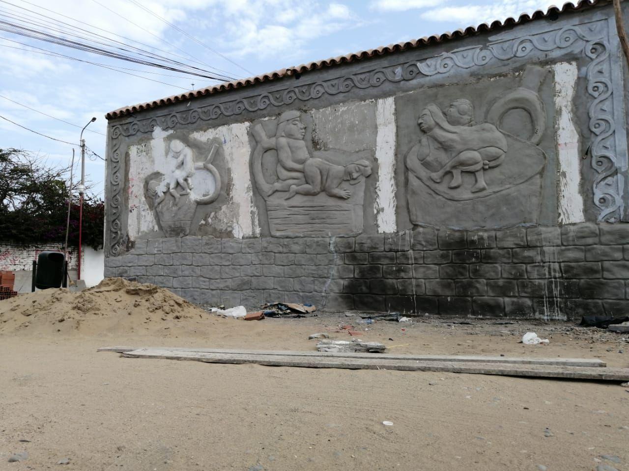"""No obstante, el autor del mural ha dicho que, si su arte es visto como algo """"morboso"""", puede realizar modificaciones."""