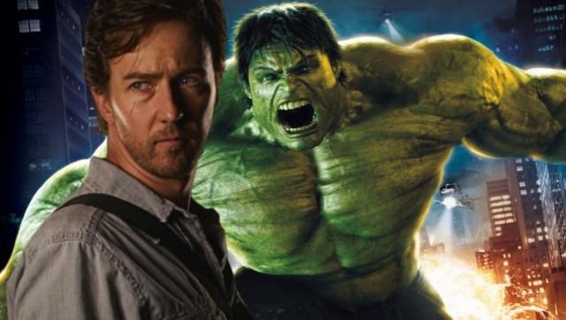 4. EL INCREÍBLE HULK. Esta versión de la historia de Hulk tiene como protagonista a Edward Norton como Bruce Banner. La cinta fue un fracaso por lo que Marvel reemplazó al actor por Mark Ruffalo, quien se convirtió en Hulk hasta el final de la saga.