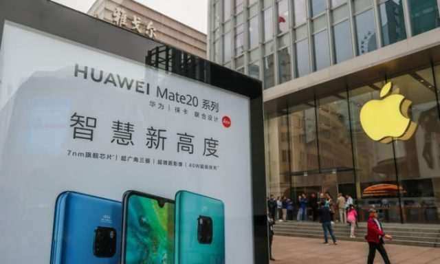 Apple y Huawei
