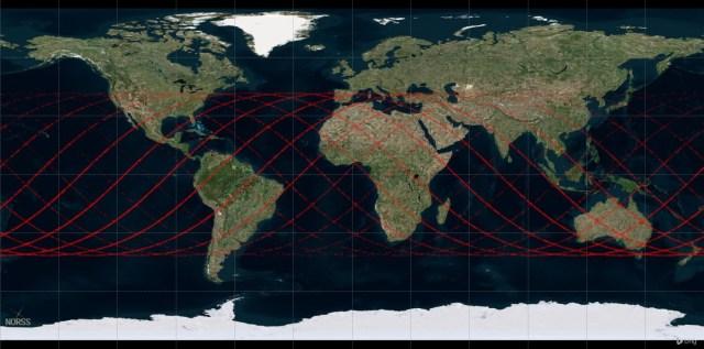 El cohete Larga Marcha 5B podría caer en algunas de estas regiones.