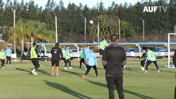 Uruguay con el ánimo al tope en la última práctica