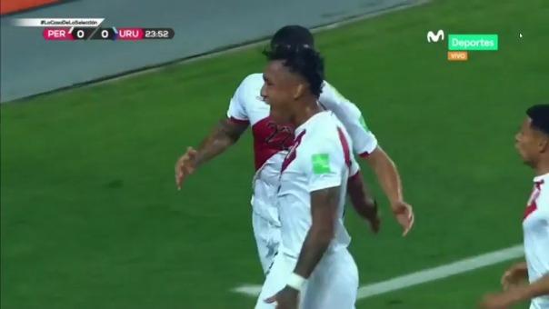 Renato Tapia anotó golazo para el 1-0 de Perú ante Uruguay