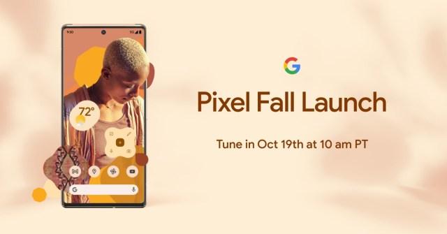 El afiche oficial del evento de los Pixel 6.