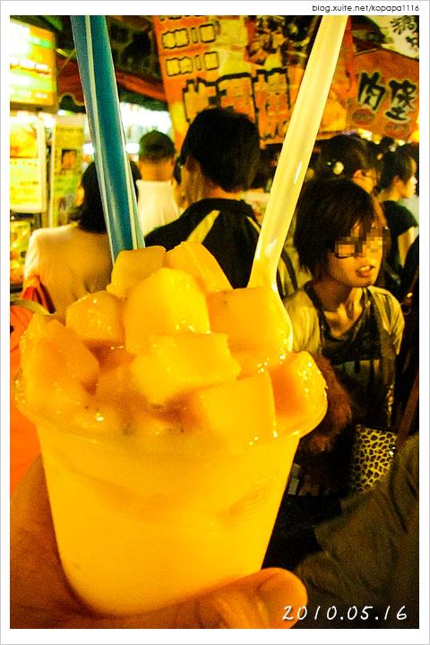 [高雄瑞豐夜市] 黃金芒果牛奶冰砂