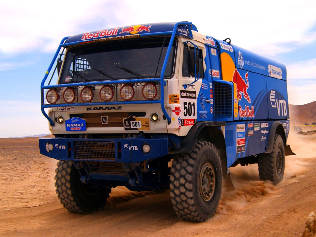 Click on images to enlarge to 1024x768, then download to your desktop. Kamaz Dakar Rally Car Wallpaper For Htc Sapphire