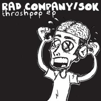 "Rad Company/Sok! ""Thrashpop EP"" cover art"