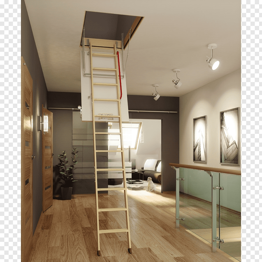 Window Attic Ladder Stairs Loft Stairs Free Png Pngfuel | Window Design For Stairs | Exterior | Kitchen Color Combination | Home Wooden Staircase | Residential | Two Story Staircase