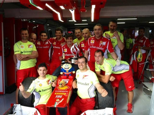 Alonso—Germany 2012 celebration