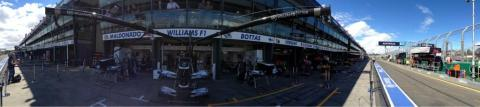 Williams F1 garage