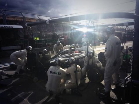 McLaren pits—Melbourne 2014