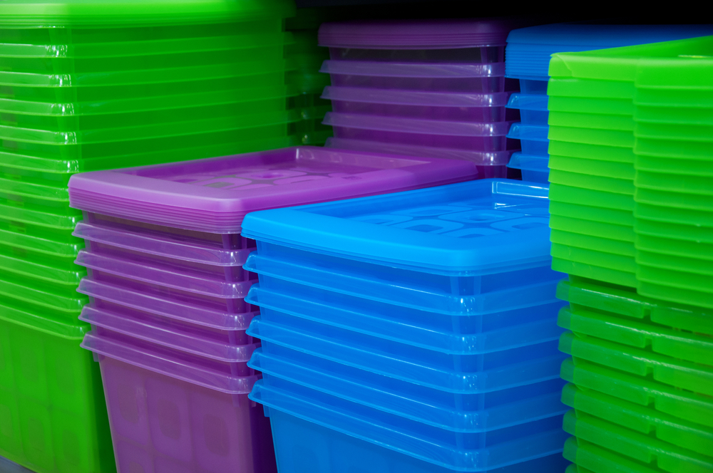 Container Box Plastik Warna Solid