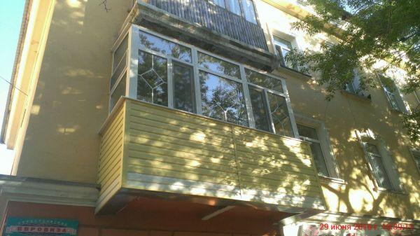 Обшивка балкона сайдингом ТОО 171Панорама Караганды