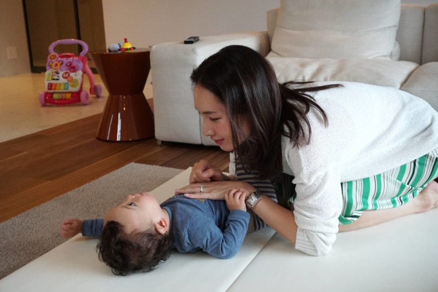 'Working full time after having children isn't viewed positively, while many Japanese women still dream of being a homemaker,' Miori Hiramoto says.   MARA BUDGEN