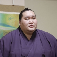 Terunofuji will be trying to win a third straight championship when the Nagoya Grand Sumo Tournament begins on July 4.    JAPAN SUMO ASSOCIATION / VIA KYODO