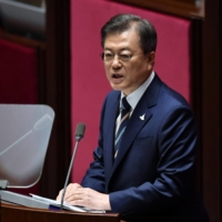 Despite having already talked to other world leaders during his first week in office, newly elected Prime Minister Fumio Kishida has yet to call his South Korean counterpart, President Moon Jae-in.   POOL / VIA REUTERS