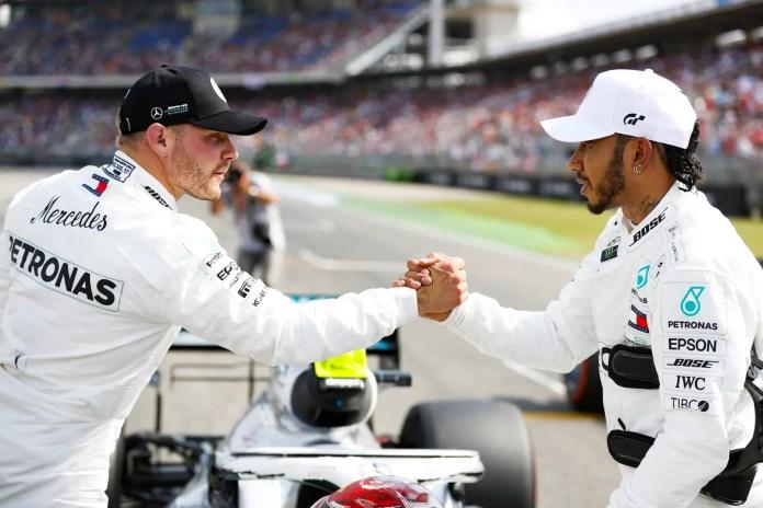 2019 German Grand Prix, Saturday - Valtteri Bottas and Lewis Hamilton (image courtesy Mercedes-AMG Petronas)