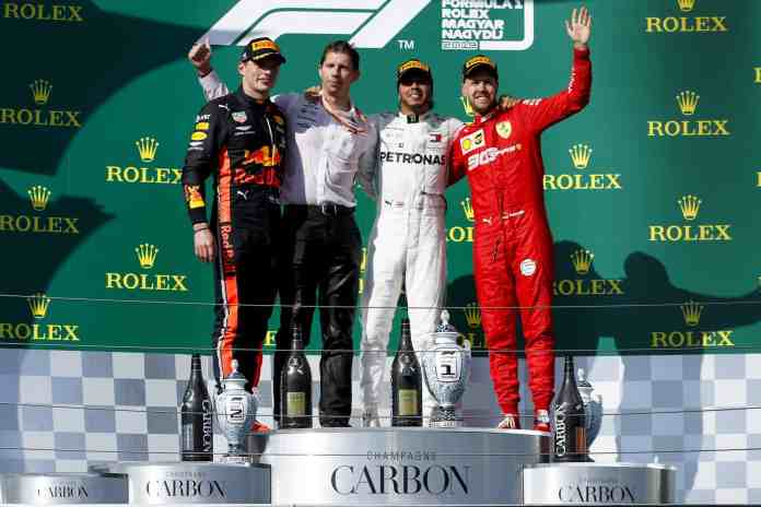 2019 Hungarian Grand Prix podium