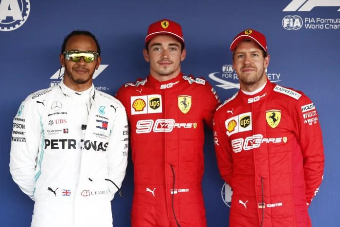 2019 Russian Grand Prix, Saturday - Lewis Hamilton, Charles Leclerc, Sebastian Vettel (image courtesy Mercedes AMG Petronas)