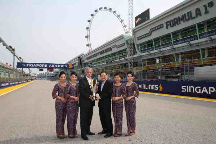 f1chronicle-Singapore Airlines to remain title sponsor of the Formula 1 Singapore Grand Prix until 2021