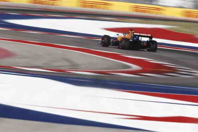 2019 United States Grand Prix, Saturday - Carlos Sainz, McLaren MCL34 (image courtesy McLaren)