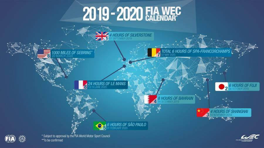 Calendario Festivita Germania 2020.Wec Il Calendario Definitivo Della Stagione 2019 2020