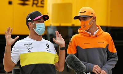 NORRIS IS NOT WORRIED ABOUT COMPETING AGAINST RICCIARDO