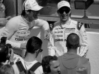 mark Webber and Timo Bernhard on the grid.