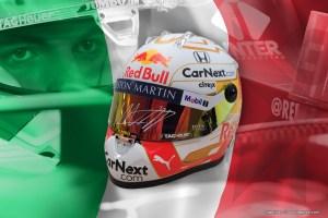 Contest Italian GP: win a by Max Verstappen signed 1:2 scale model 2020 helmet!