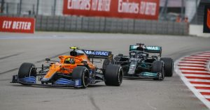 Norris keeps hold of Sochi P7 after pit lane reprimand